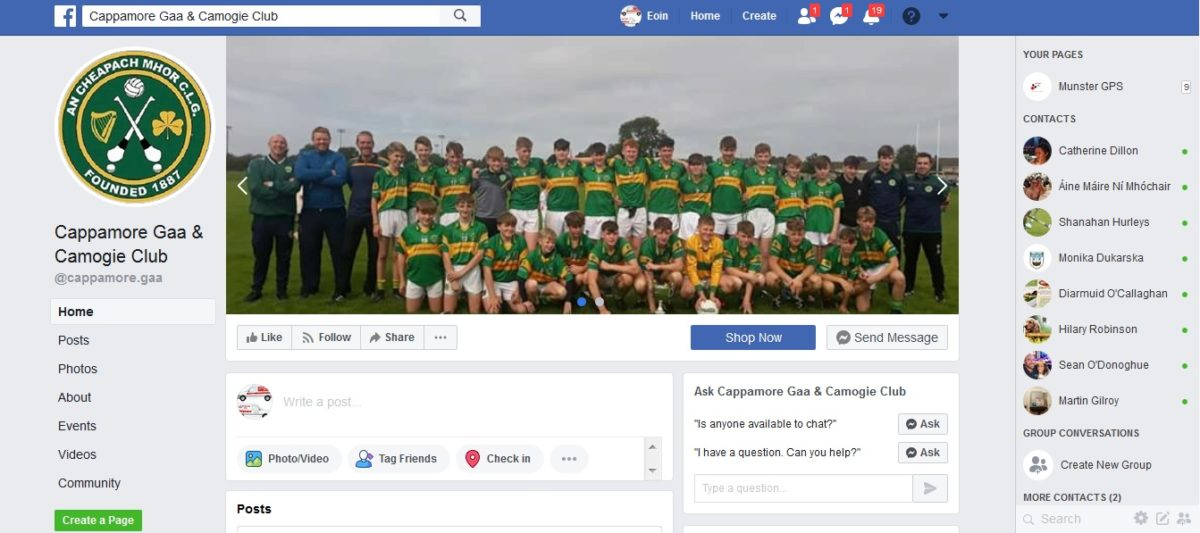 Cappamore GAA on Facebook